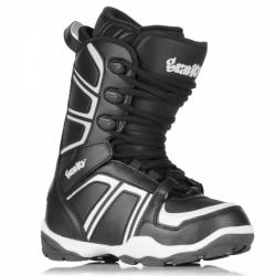 Boty na snowboard dětské Gravity Rise black/white černobílé