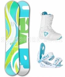 Dámský snowboard komplet Raven Venus blue/green