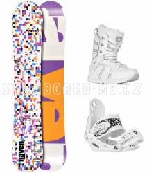 Dámský snowboardový komplet Raven Grid white