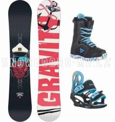 Dětský chlapecký snowboard komplet Gravity Flash, snowboardový komplet pro děti