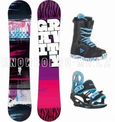 Dětský snowboardový komplet Gravity Fairy, snowboardové sety pro dívky, děti