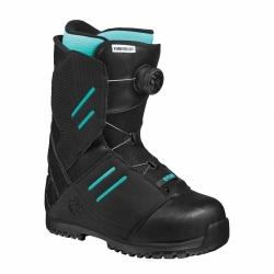 Boty na snowboard dámské Flow Deelite Boa Coiler black/černé s rychlým utažením kolečkem